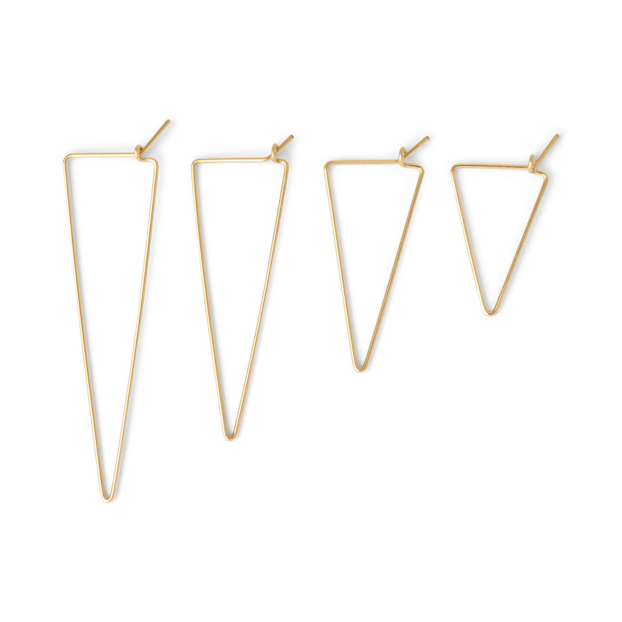Triangle Wire hoop //ONE PIECE