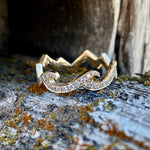Diamond Mountain Wave Ring