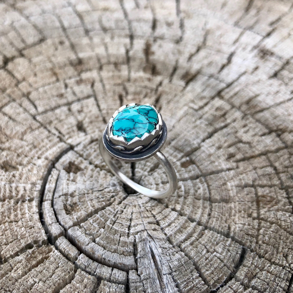 Mountain Waves and Turquoise Ring