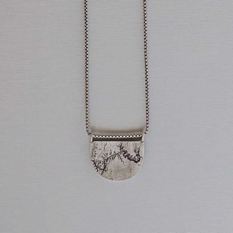 Grand Canyon Topography Necklace