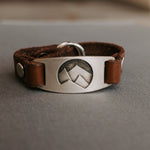 Leather Mountain Bracelet