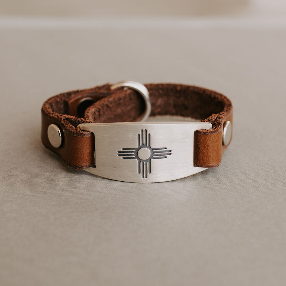 Zia Sun Leather Bracelet