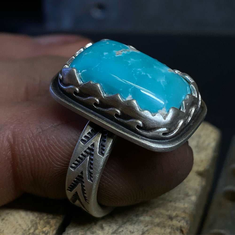 Turquoise in mountain and waveS