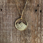 Large Goldplated Mountain Pendant