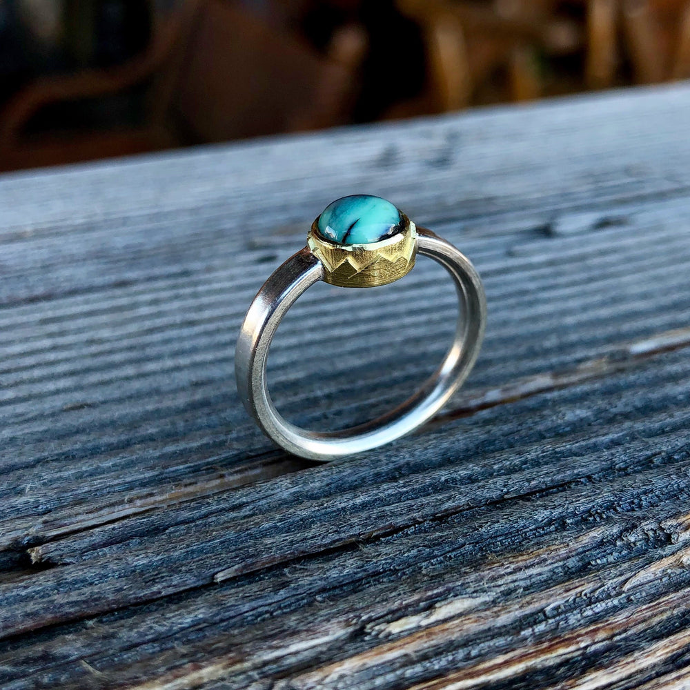 Mountain Bezel Ring