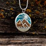 Sun Mountain Wave Inlay