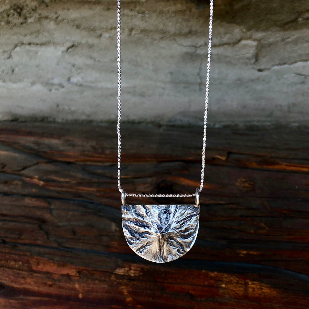 Mount Hood Topography Necklace