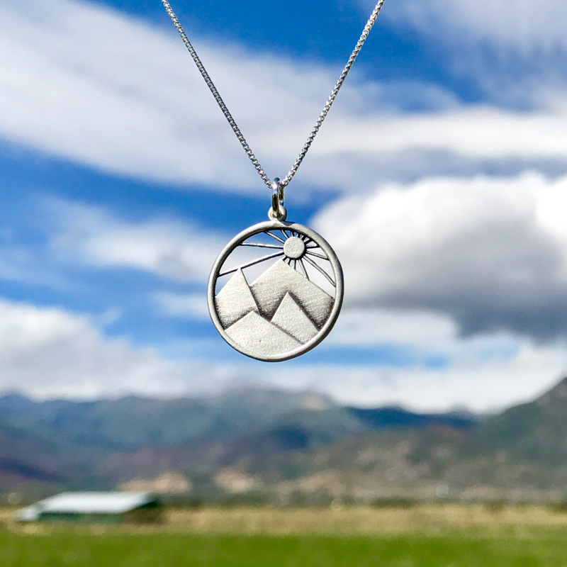 Sunrise Mountain Necklace