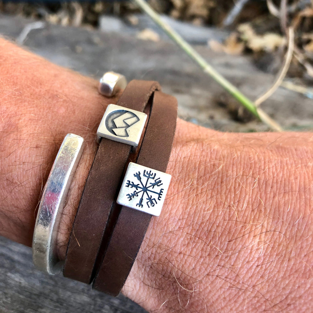 Leather Bracelet with optional sliders
