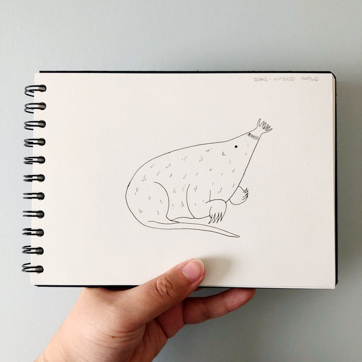 Inktober Day 5: Star-nosed mole