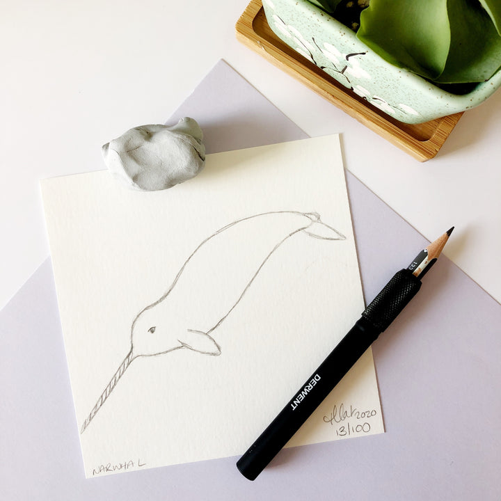 100 Day Project: Narwhal