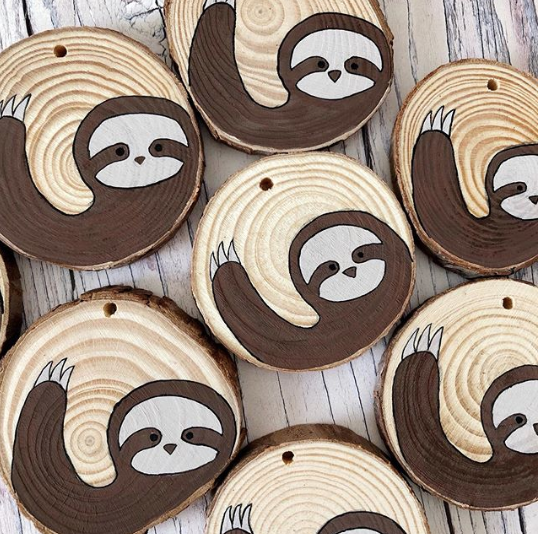 Sloth wood slices