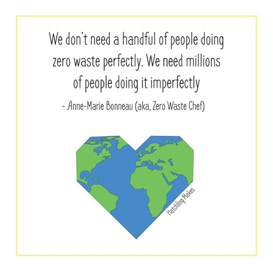 We don't need a handful of people doing zero waste properly