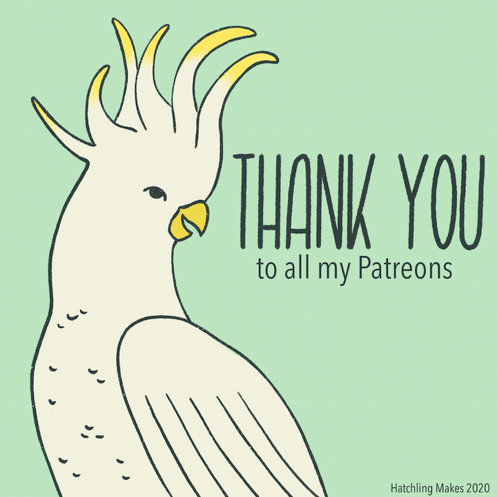 Thank you to my patreons!