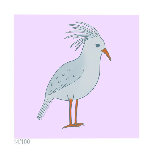 100 Day Project Day 14 (Kagu)