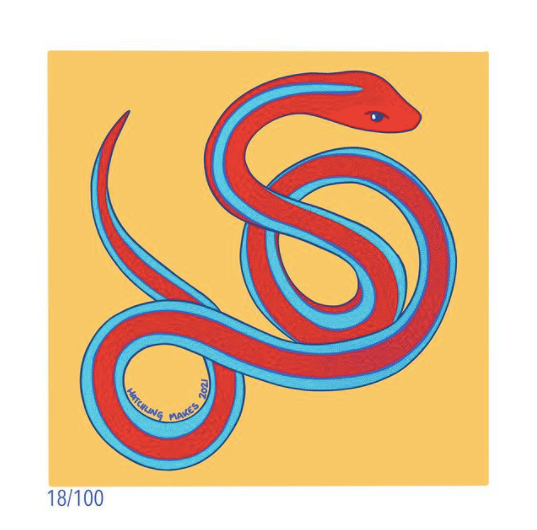 100 Day Project Day 18 (San Francisco Garter Snake)