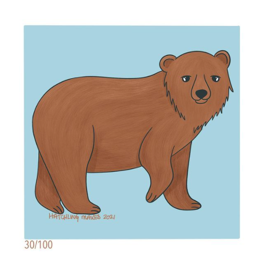 100 Day Project Day 30 : Brown Bear