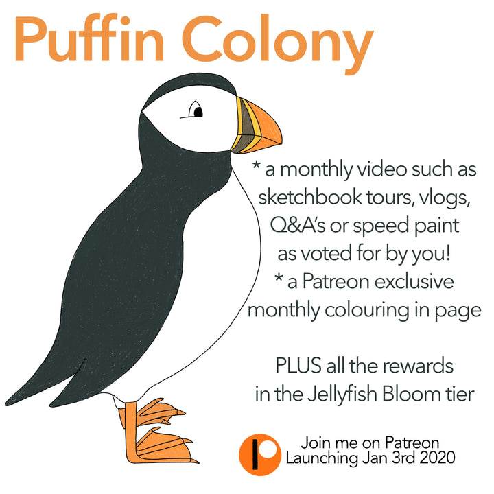 Patreon Announcement : Puffin Colony