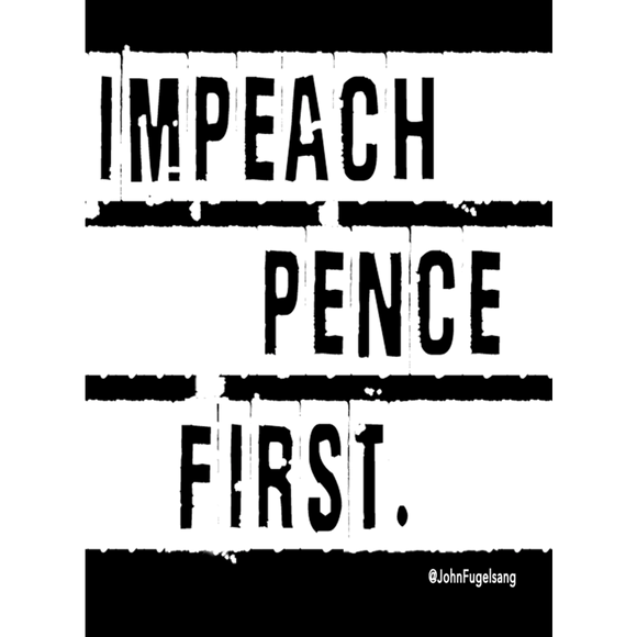 Impeach Pence Laptop Sticker
