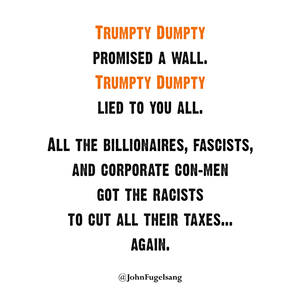 Trumpty Dumpty Laptop Sticker