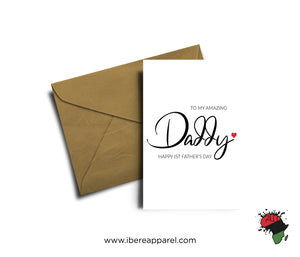 HAPPY 1ST FATHER'S DADDY |  Greeting Card