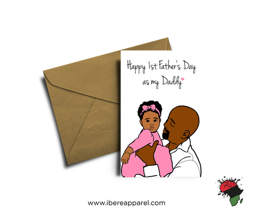 HAPPY 1ST FATHER'S DAY AS MY DAD |  Greeting Card