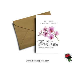 AS IF BEING A MUM ISN'T ENOUGH - THANK YOU |  Greeting Card