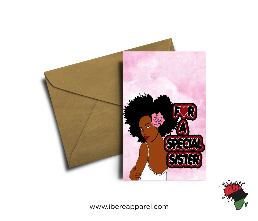 FOR A SPECIAL SISTER | Greeting Card