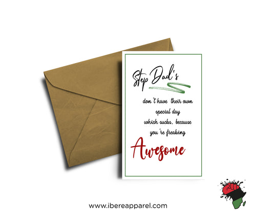 STEP DAD'S ARE AWESOME |  Greeting Card