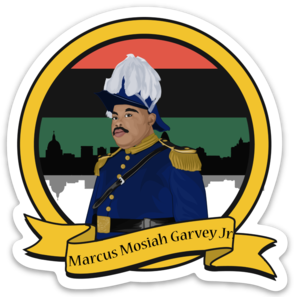 MARCUS GARVEY JR - Die Cut Sticker - Ibere Apparel