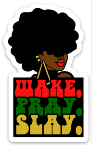 WAKE PRAY SLAY - Die Cut Sticker - Ibere Apparel
