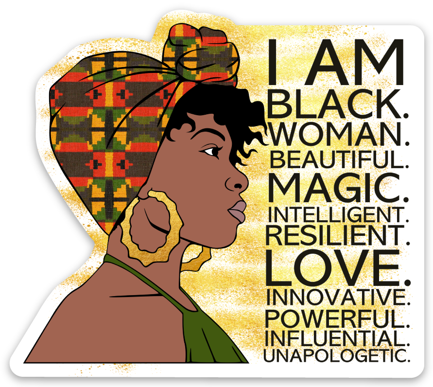 I AM BLACK - Die Cut Sticker - Ibere Apparel