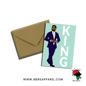 TAWIO & KEHINDE | KING | Greeting Card