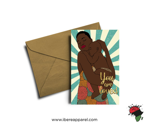 BIMBOLA | YOU ARE LOVED |  Greeting Card