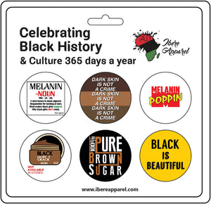 MELANIN PRIDE 6  Pack Button badges