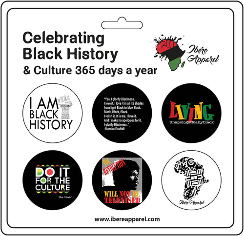 BLACK EXCELLENCE 6  Pack Button badges