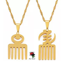 Load image into Gallery viewer, ADINKRA SYMBOL PENDANT NECKLACE