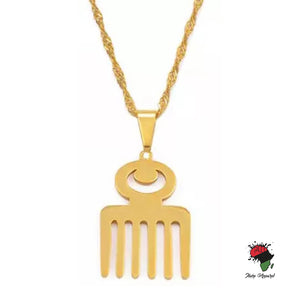 ADINKRA SYMBOL PENDANT NECKLACE - Ibere Apparel