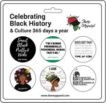 Black Womens History Month 5 Pack Button badges - Ibere Apparel