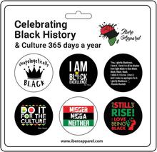 Black Power - Button Badge Set - Ibere Apparel