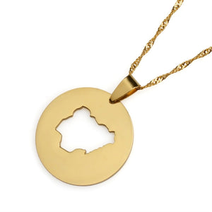 Country Map pendant - Ibere Apparel