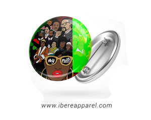 MY ROOTS - BUTTON BADGE - Ibere Apparel