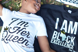 LIMITED EDITION #LOVEISLOVE LGBT COUPLE TSHIRT  - I'M HER QUEEN - Ibere Apparel