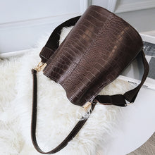Load image into Gallery viewer, leather Stone Pattern Crossbody Shoulder Bag Fashion Handbags, Purses Bucket Bags