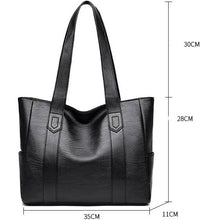 Load image into Gallery viewer, Leather handbags Fashion Large totes bag Retro Embossing Shoulder Purse