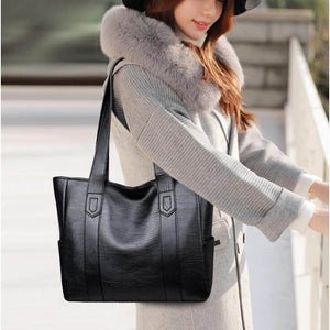 Leather handbags Fashion Large totes bag Retro Embossing Shoulder Purse