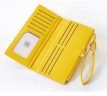 Load image into Gallery viewer, Long PU Wallet Clutch Ladies Purse Zipper Phone Pocket Card Holder Purse