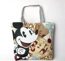 Load image into Gallery viewer, Disney Women Handbags Fashion Cartoon Plush Mickey Mouse Bags Shopping Foldable