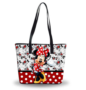 New Disney Women's Pu Leather Shoulder Handbags Waterproof Bags Bucket Purse