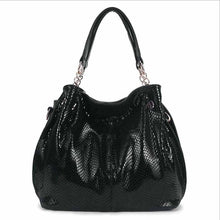 Load image into Gallery viewer, Genuine leather Snake Skin Large handbags Women Crossbody Bag Purse Satchel New